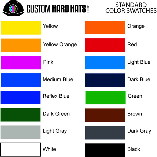 Standard PMS Color Swatches | Custom Hard Hats
