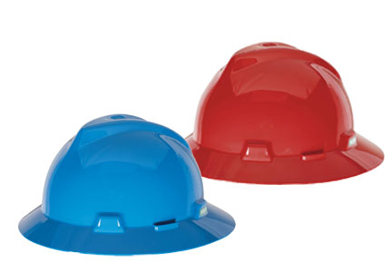 MSA V-Gard Full Brim Hard Hats