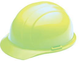 ERB Americana Hi-Viz Lime Hard Hat | Customhardhats.com