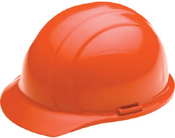 ERB Americana Standard Hi-Viz Orange Hard Hats | Customhardhats.com