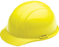 ERB Americana Standard Hi-Viz Yellow Hard Hat | Customhardhats.com