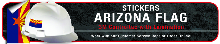 Arizona State Flag Sticker | CustomHardHats.com
