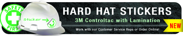 NEW! Hard Hat Stickers | CustomHardHats.com