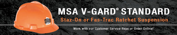 MSA V-Gard Standard Hard Hats | CustomHardHats.com