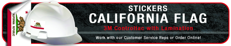 California State Flag Sticker | CustomHardHats.com