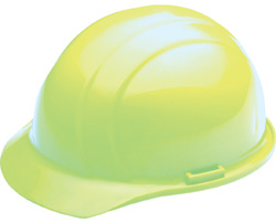 ERB Liberty Standard Hi-Viz Lime Hard Hat | Customhardhats.com