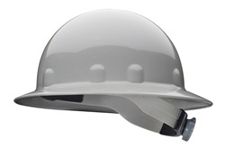 E-1 Fibre-Metal full brim gray hard hat