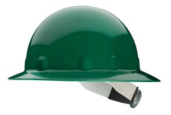 Fibre-Metal® Full Brim Green Hard Hat | Customhardhats.com
