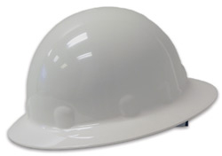 Fibre-Metal® Full Brim White Hard Hat | Customhardhats.com