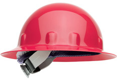E-1 Fibre Metal Full Brim - Red Hard Hat | Customhardhats.com