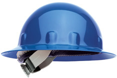 Fibre-Metal® Full Brim Blue Hard Hat