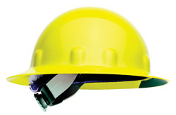 Fibre-Metal E-1 full brim hard hat yellow