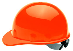 E-2 Fibre Metal Standard - Orange Hard Hat | Customhardhats.com