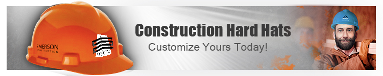 Construction Hard Hats - Add Your Company Logo to a Hard Hat