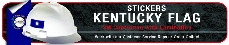 Kentucky State Flag Stickers| CustomHardHats.com