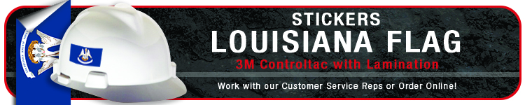 Louisiana State Flag Stickers | CustomHardHats.com
