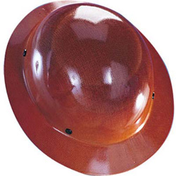 MSA Skullgard full brim natural tan hard hat