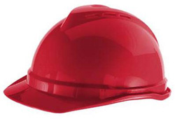 MSA Advance® Cap Standard Red Hard Hat | Customhardhats.com