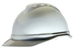 MSA Advance® Cap Standard White Hard Hat | Customhardhats.com