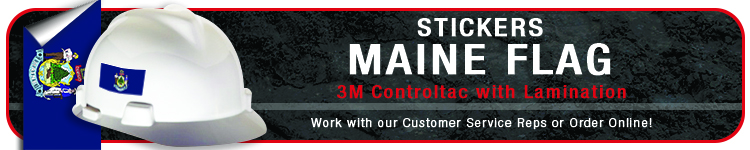 Maine State Flag Stickers | CustomHardHats.com