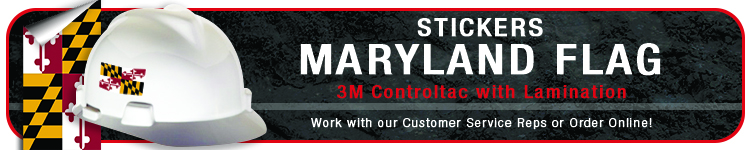 Maryland State Flag Stickers | CustomHardHats.com