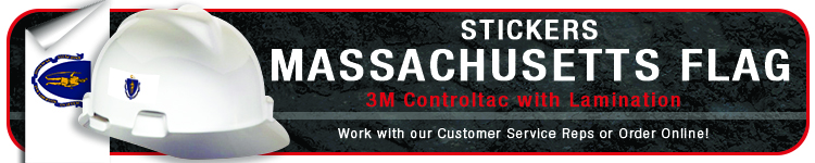 Massachusetts State Flag Stickers | CustomHardHats.com