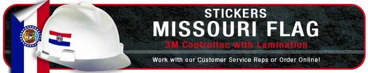 Missouri State Flag Stickers | CustomHardHats.com