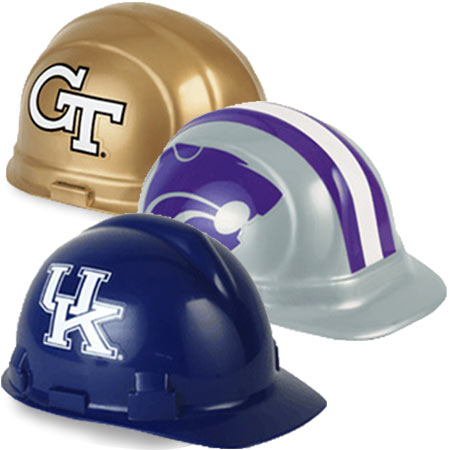 College football hard hats