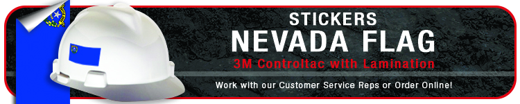 Nevada State Flag Stickers | CustomHardHats.com