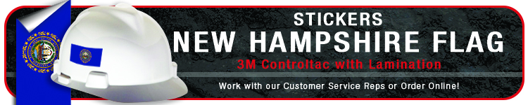 New Hampshire State Flag Stickers | CustomHardHats.com