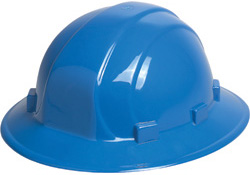 ERB Omega II Full Brim - Blue Hard Hat | Customhardhats.com