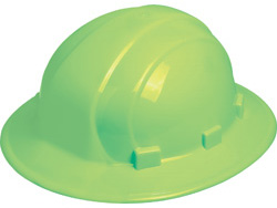 ERB Omega II Full Brim - Hi-Viz Lime Hard Hat | Customhardhats.com