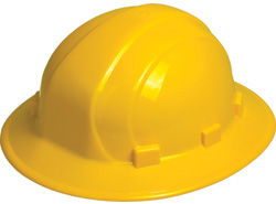 ERB Omega II Full Brim - Hi-Viz Yellow Hard Hat | Customhardhats.com