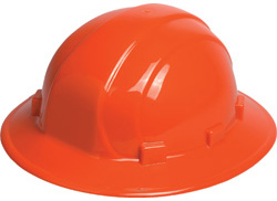 ERB Omega II Full Brim Orange Hard Hats | Customhardhats.com