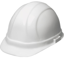 ERB Omega II Standard White Hard Hats | Customhardhats.com