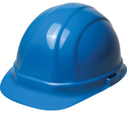 ERB Omega II Standard Blue Hard Hat | Customhardhats.com