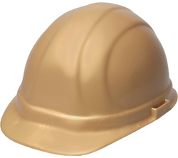 ERB Omega II Standard Gold Hard Hat | Customhardhats.com