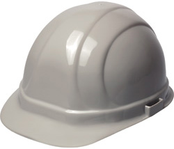 ERB Omega II Standard Gray Hard Hat | Customhardhats.com