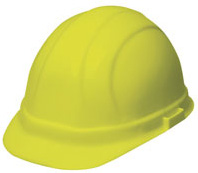 ERB Omega II Standard - Hi-Viz Yellow Hard Hat | Customhardhats.com