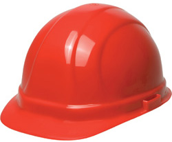 ERB Omega II Standard - Red Hard Hat | Customhardhats.com