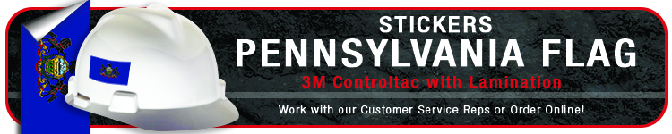 Pennsylvania State Flag Stickers | CustomHardHats.com