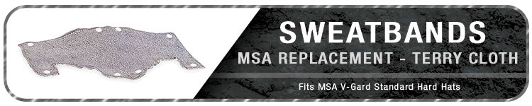 MSA Hard hat Sweatbands | CustomHardHats.com