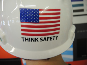 Custom Printed Hard Hat - Think Safety