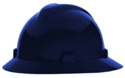 MSA V-Gard® Full Brim Dark Blue Hard Hat