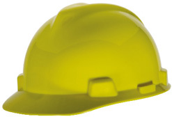 MSA V-Gard® Standard - Yellow Hard Hat | Customhardhats.com