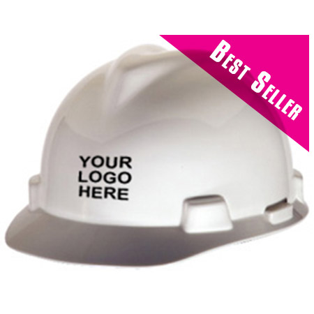 MSA V-Gard® Standard - White Hard Hat | Customhardhats.com