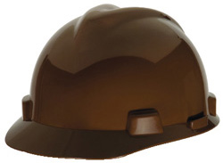 MSA V-Gard® Standard - Brown Hat | Customhardhats.com