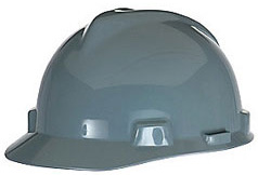 MSA V-Gard® Standard - Gray Hard Hat | Customhardhats.com