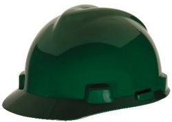 MSA V-Gard® Standard Green Hard Hat | Customhardhats.com
