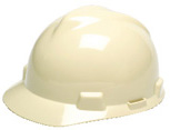 MSA V-Gard Standard Light Buff Hard Hat | Customhardhats.com